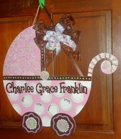 Custom made Baby Carriage Hospital Baby by OnTheBrightSideArt, $49.99