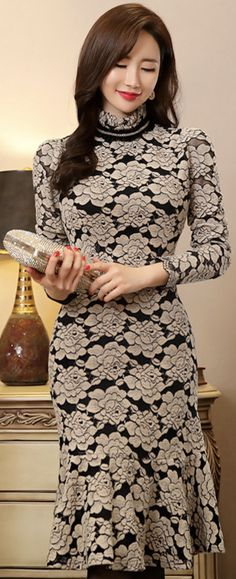 Korean Women`s Fashion Shopping Mall, Styleonme. Modest Dresses, Pretty Dresses, Beautiful Dresses, Formal Dresses, Vestidos Carolina Herrera, Fashion For Petite Women, Womens Fashion, Western Dresses, Elegant Outfit