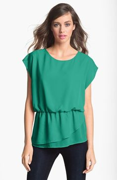 Bobeau Peplum Blouse available at #Nordstrom
