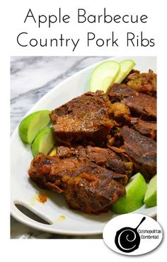 Apple BBQ Country Pork Ribs made in your slow cooker. Get the recipe ...