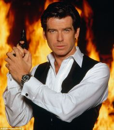 The spy who loved me: Pierce as James Bond in Tomorrow Never Dies in 1997