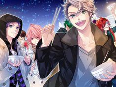 Tags: CG Art, Starry☆Sky~, Aozora Hayato, Amaha Tsubasa, Shiranui Kazuki, Ooshirou Shirogane, Starry☆Sky ~in Winter~
