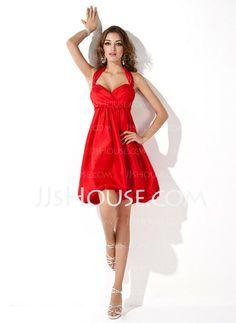 Bridesmaid Dresses - $96.99 - A-Line/Princess Sweetheart Short/Mini Taffeta Bridesmaid Dresses With Ruffle (007004168) http://jjshouse.com/A-Line-Princess-Sweetheart-Short-Mini-Taffeta-Bridesmaid-Dresses-With-Ruffle-007004168-g4168