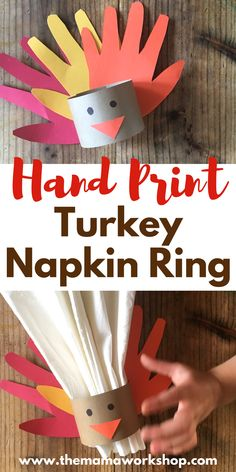 We are making this Hand Print Turkey Napkin Ring for each family member! The kiddos will be so happy a craft they helped with is being displayed on Thanksgiving Day! Thanksgiving Crafts For Kids, Thanksgiving Parties, Thanksgiving Activities, Thanksgiving Decorations, Fall Crafts, Halloween Crafts, Holiday Crafts, Thanksgiving Turkey, Turkey Decorations