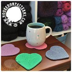 Heart Coasters Free Crochet Pattern