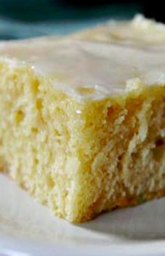 Glazed Lemon Yogurt Sheet Cake