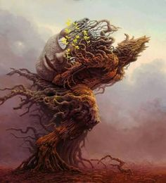 treehead - Tomasz Alen Kopera - polish surrealist painter - Kozuchow  - Poland - 1976