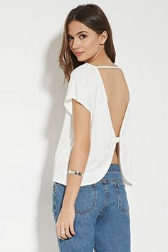 Contemporary Bow-Back Top | LOVE21 - 2000150890