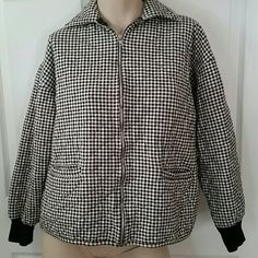 Jones New York houndstooth jacket Good condition, zip front, and 2 front pockets. MOST REASONABLE OFFERS ACCEPTED! Jones New York Jackets & Coats