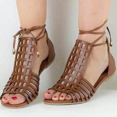 sandalias de amarrar gladiadora