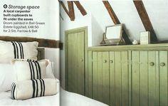 Nice 'under eaves' storage