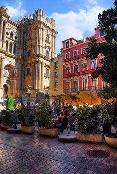 Plaza del Obispo (Málaga) by Jorge Márquez, via Been here to Malaga, quaint, quiet and lovely town. Wonderful Places, Great Places, Beautiful Places, Oh The Places You'll Go, Places To Travel, Places To Visit, Travel Around The World, Around The Worlds, Madrid
