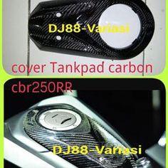 TERBARU!! Cover Tankpad Carbon Kevlar All New Cbr 250rr , Penutup Tangki Atas Carbon , Cover Upper Tank Carbon , Variasi Cbr 250rr , Aksesoris Cbr 250rr , Dj88variasi