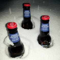 #AngryOrchard fan Amanda got snowed in with #CrispApple in Kansas City, MO! Glad to see she's making the best of it!