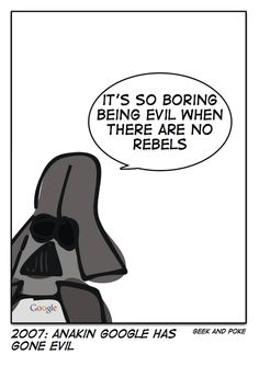it's boring to be evil... #StarWars