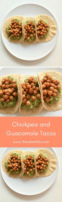 Chickpea and Guacamole Tacos Recipe