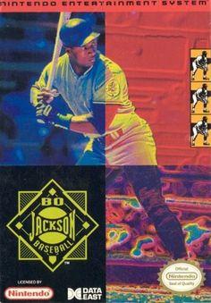 #Bo Jackson Baseball - Label or Box Art #nintendo games #gamer #snes #original #classic #pin #synergeticideas #gameon #play #award