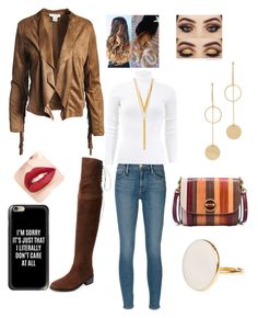 """Casual work"" by sugarhionplatforms-hollyhud on Polyvore featuring Marabelle, Frame, Michael Kors, Sans Souci, Cloverpost, Jouer, BERRICLE, Tory Burch and Casetify"