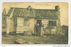 Black family & cabin, from PENN SCHOOL, St Helena Island, South Carolina, 00-10s - Delcampe.com