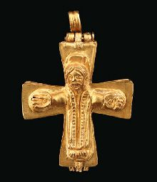 A BYZANTINE GOLD RELIQUARY CROSS CIRCA 9TH-11TH CENTURY A.D.