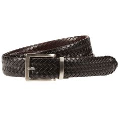 Men's Lee Reversible Braided Belt, Size: 32, Black