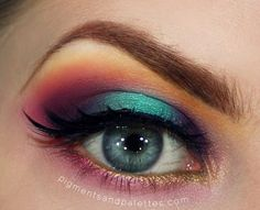Rainbow Makeup - Strictly Sugarpill https://www.makeupbee.com/look.php?look_id=77457