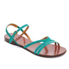 Shop Coclico - Chie Mihara Wilona menta flat sandals.