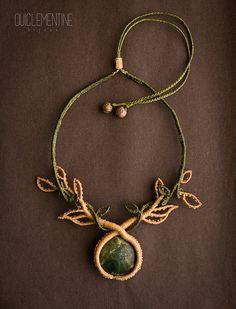 Collar macrame collar bohemio en macramé collar por OuiClementine