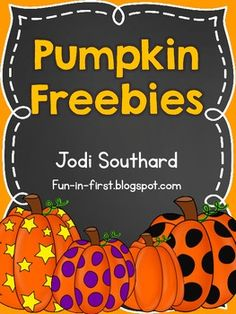 Pumpkins {Freebie} Repinned by SOS Inc. Resources pinterest.com/sostherapy/.
