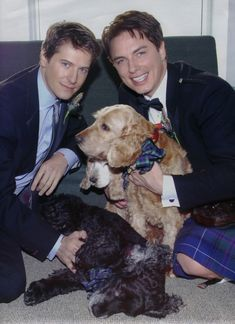 John Barrowman and his husband Scott Gill, they have been together for over 10 years, both are talented, sexy and dog lovers, how can one not adore them