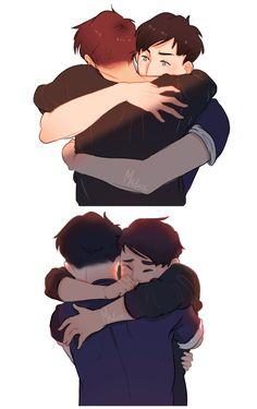 AmazingPhil and Danisnotonfire #hug #crying