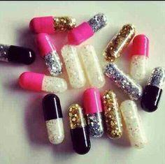 Glitter pills..love it!! :)