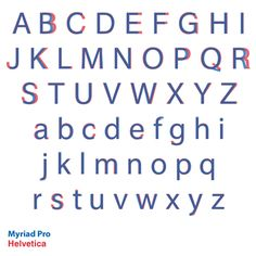 The difference between Helvetica and Myriad Pro.