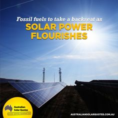 The fascination with #fossil #fuel is over, and #solar #power is moving in! Find out why people are choosing solar over fossil fuels https://www.australiansolarquotes.com.au/2015/03/28/fossil-fuel-takes-backseat-solar-flourishes/?utm_content=buffer5fbf4&utm_medium=social&utm_source=pinterest.com&utm_campaign=buffer  #RenewableEnergy #AusSolarQuotes #News