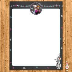 Printable Frozen Stationery Chalkboard  by CoolEtsyPrintables, $1.00