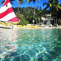 Floating along #stjohn #caneelbay #usvi #vacation #sailboat #beach #caribbean Photo credit: @prinnypie