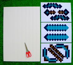 How to make a minecraft diamond sword and diamond pickaxe | KerryAnnMorgan.com