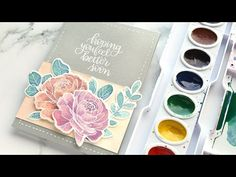Mixing Custom Colors for Watercolor Painting - Example 2 - YouTube