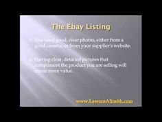EBay top seller reveals tips on selling on ebay for beginners. Video tutorial explains how to setup your ebay listing so that you can make more sales -- selling on ebay, selling on ebay for beginners --- http://lawrensmith.com/selling-on-ebay-for-beginners-the-ebay-listing/
