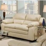Simmons Upholstery - Soho Bonded Leather Loveseat In Natural - 5066-02NATURAL