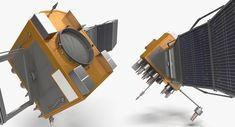 3D model satellite 4 - TurboSquid 1379604 Weather Satellite, Indian Space Research Organisation, Astronomy Science, 3ds Max Models, Remote Sensing, Hubble Space Telescope, 3d Artist, Spacecraft, Game Design