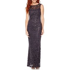 jcpenney.com | Blu Sage Sleeveless Sparkle Lace Formal Gown