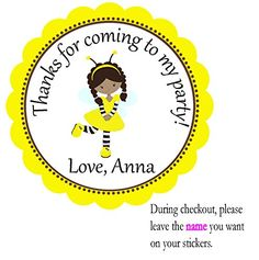 Bee Darker Tone Personalized Party Favors, Custom Party Favors, Treat Tags, Treat toppers, Favors Stickers, Baby Shower Party Favors Stickers, Personalized Stickers Tags , Party Favors Toppers - Birthday Stickers Party, Gift Tags BeautyAndBrainsGirls http://www.amazon.com/dp/B011D06DAG/ref=cm_sw_r_pi_dp_JScOvb05F8AW8