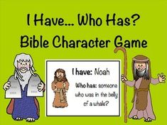 Bible Character Task Cards and Game Sunday School Activities, Bible Activities, Sunday School Lessons, Sunday School Crafts, Church Activities, Bible Lessons For Kids, Bible For Kids, Bible Games For Youth, Kids Bible Stories