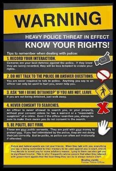 I don't think all police are as bad as this makes them sound, but this is still good to know Simple Life Hacks, Useful Life Hacks, Survival Tips, Survival Skills, Survival Stuff, Survival Gadgets, Survival Mode, Urban Survival, Police Code