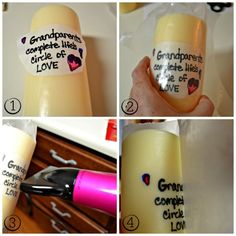 DIY Candle Printing... Quick and easy to create just about any design you can think off. Love this idea!!