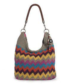 Look what I found on #zulily! Gray & Yellow Monterrey Stripe Crochet Bennett Hobo by The Sak #zulilyfinds