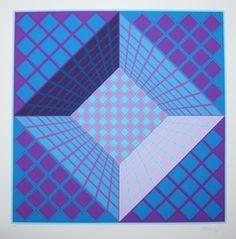 Victor Vasarely, 'PinkBleu,' , RGR+ART