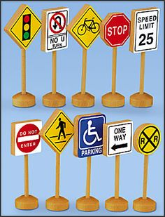 Block Play Traffic Signs These are great for teaching environmental signs. Preschool Books, Preschool Activities, Preschool Shapes, Environmental Signs, Classroom Supplies, Classroom Ideas, Construction Signs, Kids Reading Books, Block Play