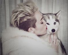 Penance for being tricked by that fake article about her.   Miley Cyrus